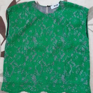 エムエスジイエム(MSGM)のMSGM ノースリーブシャツ(Tシャツ(半袖/袖なし))