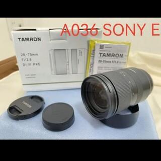 TAMRON - TAMRON 28-75mm F/2.8 Di III RXD ソニーE