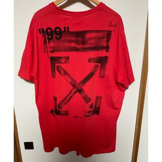 オフホワイト(OFF-WHITE)の希少 OFF WHITE STENCIL OVERTEE オフホワイト Tシャツ(Tシャツ/カットソー(半袖/袖なし))