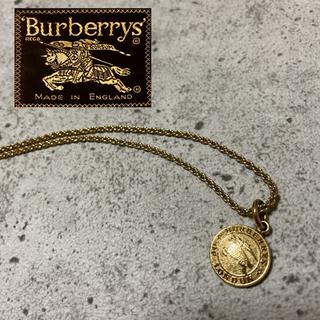 バーバリー(BURBERRY)のBurberry コインネックレス ヴィンテージ希少  ロゴマーク 希少レア(ネックレス)