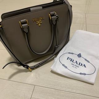 PRADA - プラダ サフィアーノ バッグ グレー