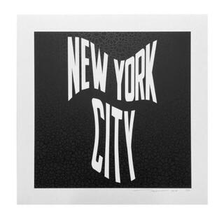 NEW YORK CITY 夜に咲く華    村上隆 カイキキ(版画)