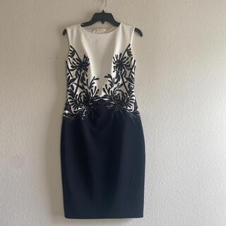 タダシショージ新品タグ付き 清楚でクラシカルなミディアムドレス ワンピース XS