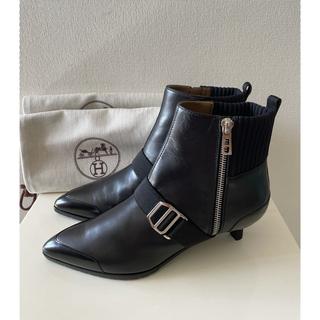 エルメス(Hermes)の専用です。 新品 エルメス ショートブーツ ブラック 36.5(ブーツ)