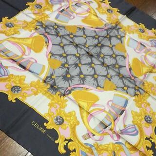 セリーヌ(celine)の511 A 美品 セリーヌ CELINE スカーフ シルク100%(バンダナ/スカーフ)