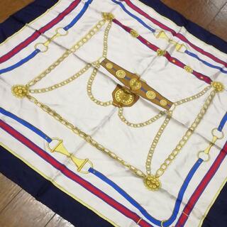 セリーヌ(celine)の512 A 美品 セリーヌ CELINE スカーフ シルク100%(バンダナ/スカーフ)