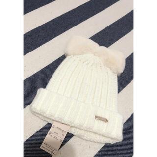 petit main - 新品タグ付き プティマイン ニット帽