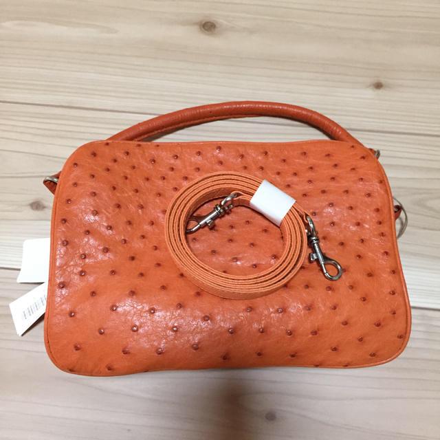 ねこ様専用!オーストリッチレザー ハンドバッグ&シンクビーバッグ2点セット レディースのバッグ(ハンドバッグ)の商品写真