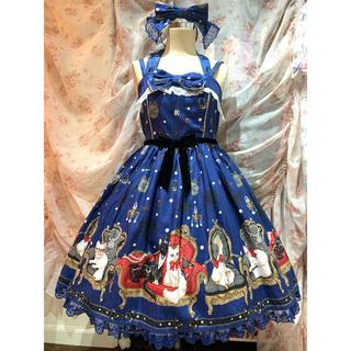 Angelic Pretty - Princess cat JSK Special Set 青 カチューシャ 新品