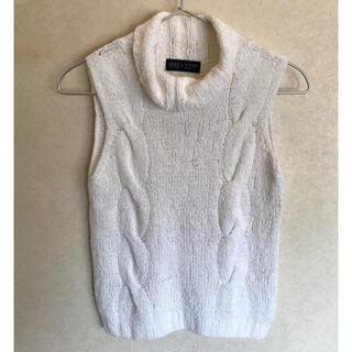 プロポーションボディドレッシング(PROPORTION BODY DRESSING)の美品!body dressingノースリーブニット(ニット/セーター)