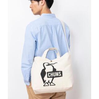 チャムス(CHUMS)の新品未使用!チャムス(CHUMS) キャンバス ショルダーバック 黒(ショルダーバッグ)