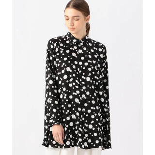 TOMORROWLAND - TOMORROWLAND knott ランダムドットプリント フレアロングシャツ