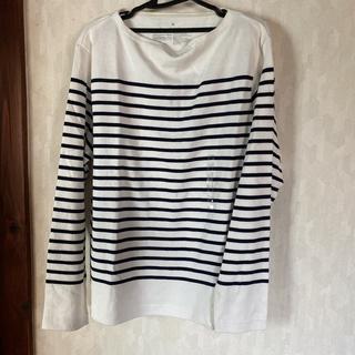 ムジルシリョウヒン(MUJI (無印良品))の新品 無印良品 パネルボーダー長袖Tシャツ メンズM(Tシャツ/カットソー(七分/長袖))