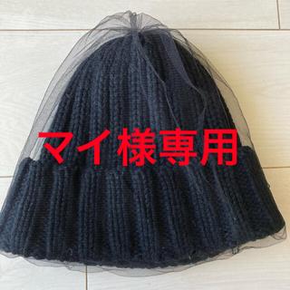 カシラ(CA4LA)のca4laカシラ♡黒ニット帽 (ニット帽/ビーニー)