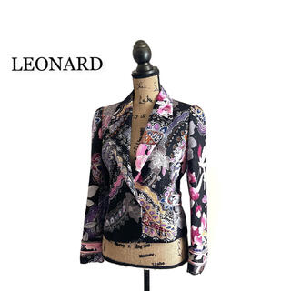 レオナール(LEONARD)のLEONARD レオナール ジャケット レディース ラメ ブラック(テーラードジャケット)