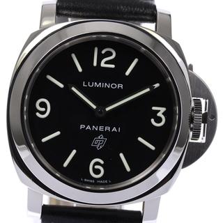 パネライ(PANERAI)の☆美品 パネライ ルミノールベース PAM00000 メンズ 【中古】(腕時計(アナログ))