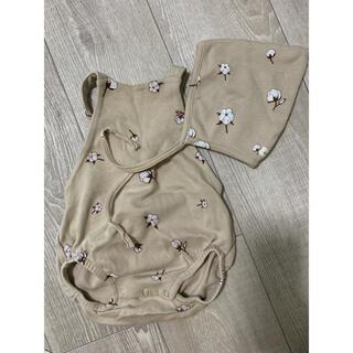 キャラメルベビー&チャイルド(Caramel baby&child )のorganiczoo ロンパース ボンネット(ロンパース)