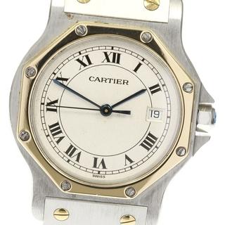 カルティエ(Cartier)のカルティエ サントスオクタゴンMM デイト  クォーツ メンズ 【中古】(腕時計(アナログ))