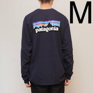 patagonia - パタゴニア P-6 ロゴ レスポンシビリティー 新品 ロンT M ネイビー
