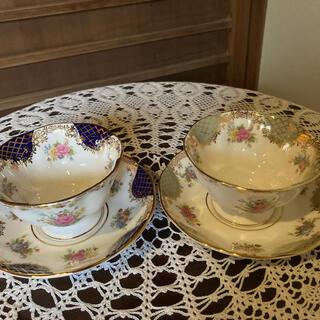 ロイヤルアルバート(ROYAL ALBERT)のROYAL ALBERT コーヒー(紅茶)茶碗 2組セット(食器)