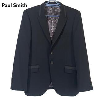 ポールスミス(Paul Smith)の美品 ポールスミス テーラードジャケット 裏地コイン柄 ブラック 黒 S(テーラードジャケット)