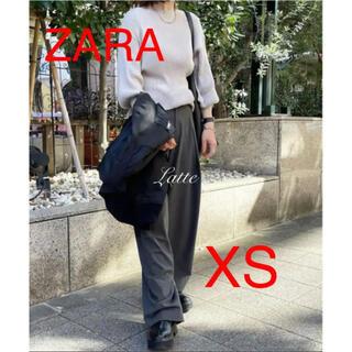 ザラ(ZARA)のZARA 希少 マキシダーツ FULL LENGTH パンツ ハイライズ XS(カジュアルパンツ)