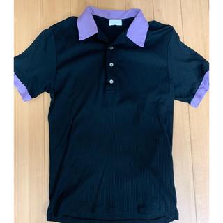 JOHN LAWRENCE SULLIVAN - littlebig オープンカラーポロシャツ パープル サイズ46