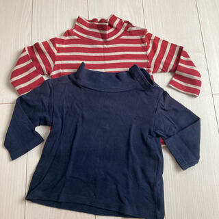 ムジルシリョウヒン(MUJI (無印良品))の無印Baby 男女兼用トップス2枚セット 80cm(シャツ/カットソー)
