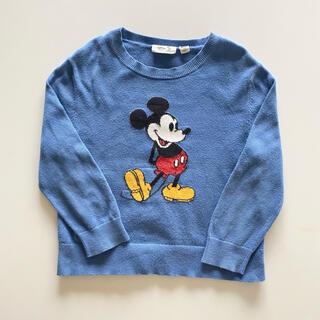 ユニクロ(UNIQLO)のUNIQLO ミッキー セーター ブルー 110(ニット)