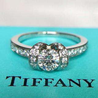 Tiffany & Co. - ティファニー リボン リング 0.47ct 10号 鑑定書