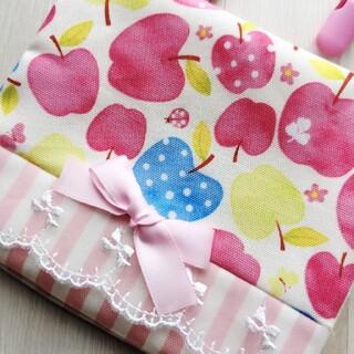 194 移動ポケット りんご ピンク(外出用品)