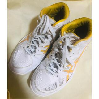 アシックス(asics)のバッシュ アシックス 23.5 バスケットシューズ 白 オレンジ レディース(バスケットボール)