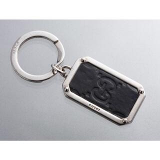 グッチ(Gucci)のS7206M グッチ シマ GG 本革 キーリング ITALY製(キーホルダー)