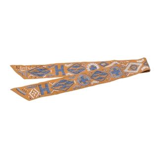 エルメス(Hermes)のエルメス  ツイリー 新タグ スカーフ マスタード系(バンダナ/スカーフ)