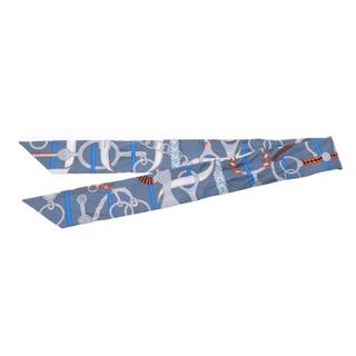 エルメス(Hermes)のエルメス  ツイリー 新タグ スカーフ グレー(バンダナ/スカーフ)