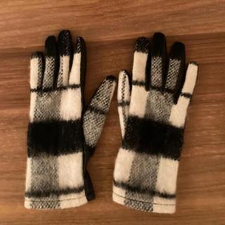 ザラ(ZARA)のZARA  チェック柄手袋(手袋)