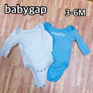 ベビーギャップ(babyGAP)のベビーギャップ babygap ロンパース 長袖肌着 2枚セット 60 70(肌着/下着)