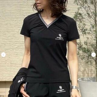 ダブルスタンダードクロージング(DOUBLE STANDARD CLOTHING)のAKKO×ESSENTIAL / ストレッチ VネックシグネーチャーTシャツ(Tシャツ(半袖/袖なし))