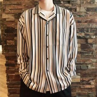 RAGEBLUE - RAGEBLUE レイジブルー オープンカラーシャツ ストライプ  羽織