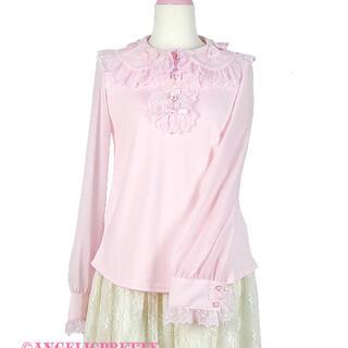 Angelic Pretty - ふわふわリボンカットソー 長袖 ブラウス