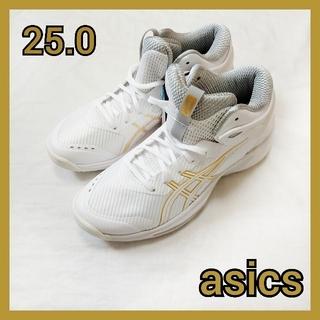 アシックス(asics)の25.0 バスケットシューズ asics アシックス バッシュ 白 ホワイト(バスケットボール)