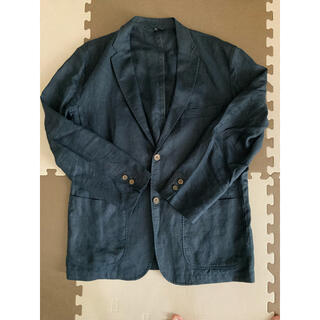ムジルシリョウヒン(MUJI (無印良品))の無印 ジャケット 紺色 メンズ(テーラードジャケット)