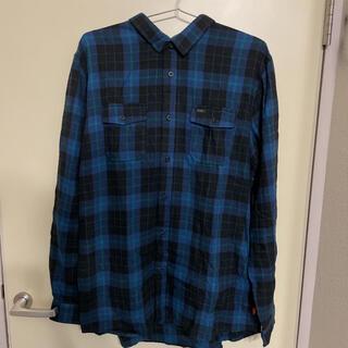 OFF-WHITE - 海外限定 GLOBE チェックシャツ ネルシャツ フランネルシャツ