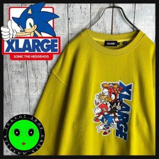 XLARGE - 【即完売ソニックコラボ☆XLサイズ】エクストララージ 刺繍 スウェットトレーナー