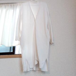 ローリーズファーム(LOWRYS FARM)のロングカーディガン 白 綿100%(カーディガン)