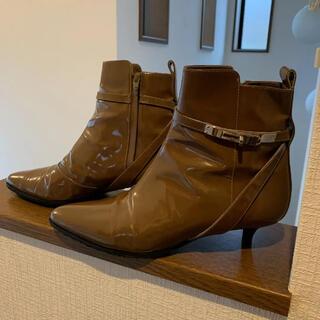 エルメス(Hermes)の正規品 エルメス エナメルケリーショートブーツ 36(ブーツ)