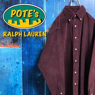 Ralph Lauren - 【ラルフローレン】ワンポイント刺繍ロゴコーデュロイシャツ 90s