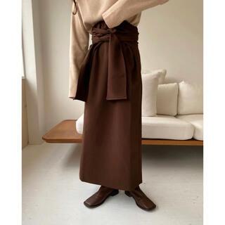 トゥデイフル(TODAYFUL)の【 lawgy 】original wrap skirt ★ブラウン(ロングスカート)