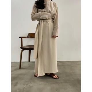 トゥデイフル(TODAYFUL)の【 lawgy 】original wrap skirt ★アイボリー(ロングスカート)