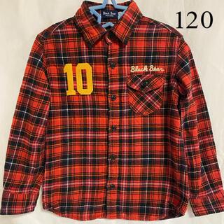 ミキハウス(mikihouse)のミキハウス ブラックベア チェックシャツ 長袖 トップス 120 キッズ(ブラウス)